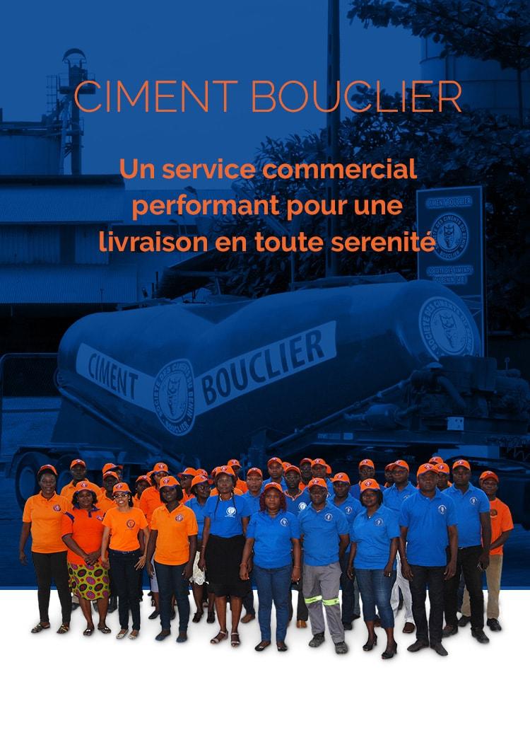 ciment bouclier ciments equipe commerciale